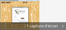 Montage de captures d'écran de BOOK HUB Reader