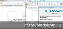 Montage de captures d'écran de FileViewPro