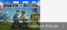 Montage de captures d'écran de The Bluecoats - North vs South