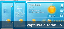 Montage de captures d'écran de Weather Gizmo