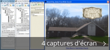 Montage de captures d'écran de King James Pure Bible Search