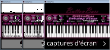 Montage de captures d'écran de ButtonBass Dubstep Piano