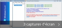 Montage de captures d'écran de Windows Azure Emulator