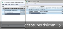 Montage de captures d'écran de WiFi Password Revealer