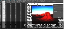 Montage de captures d'écran de Adobe Photoshop CC
