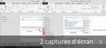 Montage de captures d'écran de Hightail for Outlook