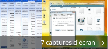 Montage de captures d'écran de IconPackager