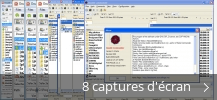 Montage de captures d'écran de Double Commander