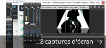 Montage de captures d'écran de Vegas Movie Studio