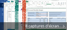 Montage de captures d'écran de Microsoft Office
