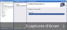 Montage de captures d'écran de SharperLight