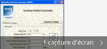 Montage de captures d'écran de Desktop Dilution Calculator