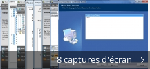 Montage de captures d'écran de DownloadStudio