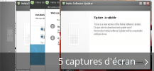 Montage de captures d'écran de Nokia Software Updater