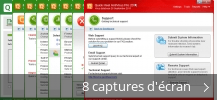 Montage de captures d'écran de Quick Heal Total Security