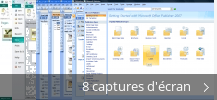Montage de captures d'écran de Microsoft Office Publisher