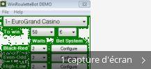Montage de captures d'écran de WinRouletteBot