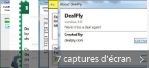 Montage de captures d'écran de DealPly