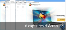 Montage de captures d'écran de Speed Browser