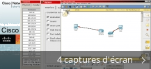 Montage de captures d'écran de Cisco Packet Tracer