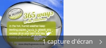 Montage de captures d'écran de 365 Ways to Be Delicious