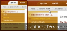 Montage de captures d'écran de The Alim