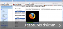 Montage de captures d'écran de Windows Media Player Firefox Plugin