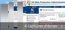 Montage de captures d'écran de K9 Web Protection