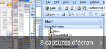 Montage de captures d'écran de Microsoft Office Outlook