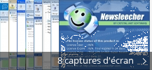Montage de captures d'écran de NewsLeecher