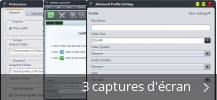 Montage de captures d'écran de Full Video Converter