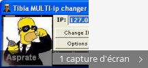 Montage de captures d'écran de Tibia MULTI-ip changer