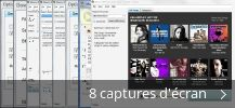 Montage de captures d'écran de Music Mp3 Downloader