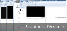 Montage de captures d'écran de Windows Live® Movie Maker