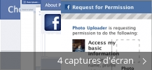 Montage de captures d'écran de Adobe Photo Uploader for Facebook
