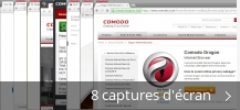 Montage de captures d'écran de Comodo Dragon Internet Browser