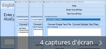 Montage de captures d'écran de English To Hindi and Hindi To English Converter Software