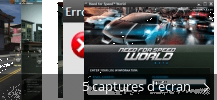 Montage de captures d'écran de Need For Speed™ World