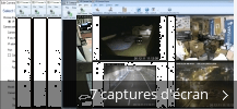 Montage de captures d'écran de Ip Camera Viewer