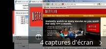 Montage de captures d'écran de Netflix Icon Installer