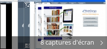 Montage de captures d'écran de BookGanga - eBook Reader
