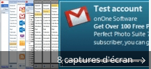 Montage de captures d'écran de Gmail Notifier Pro
