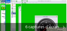 Montage de captures d'écran de WebCallDirect