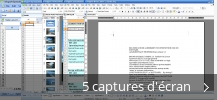 Montage de captures d'écran de Kingsoft Office