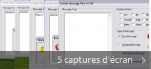 Montage de captures d'écran de Create Message Pro